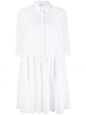 Хлопковое белое платье-рубашка с воротником Fabiana Filippi