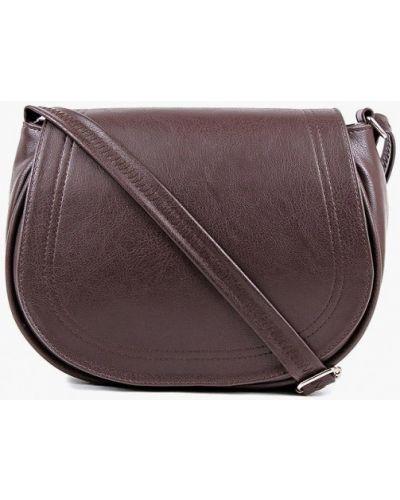 Кожаная сумка через плечо коричневый медведково