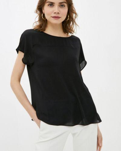 Черная блузка с короткими рукавами Franco Vello