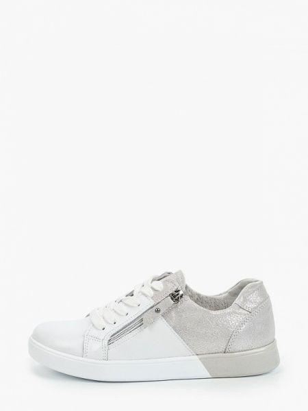 Белые кроссовки из натуральной кожи Baden