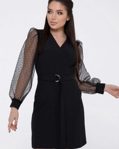 Черное платье с запахом Magnet