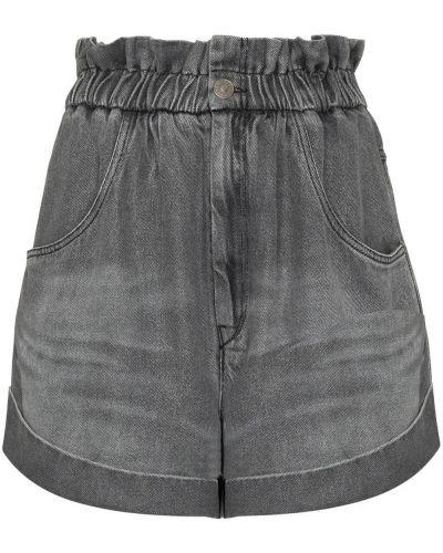 Серые джинсовые шорты на молнии Isabel Marant étoile