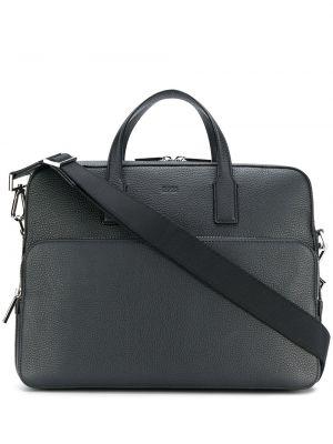 Кожаный портфель - черный Boss Hugo Boss