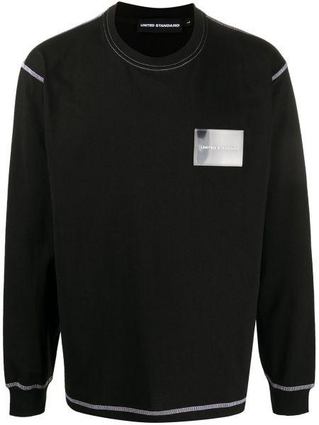 Прямая хлопковая черная футболка узкого кроя United Standard