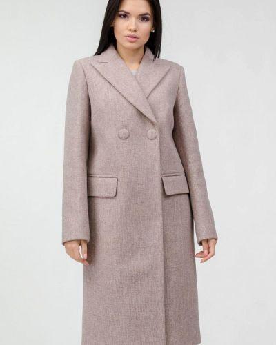 Бежевое пальто двубортное Raslov