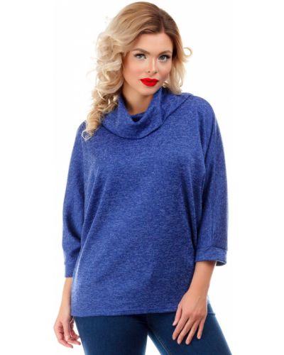 Блузка летучая мышь - синяя Liza Fashion