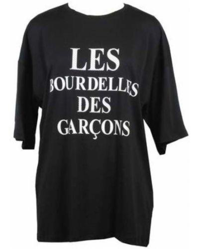 Biały t-shirt bawełniany z printem Les Bourdelles Des Garcons