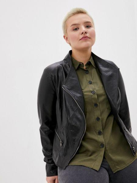 Кожаная куртка черная весенняя Le Monique