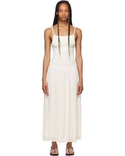 Шелковое платье макси - белое Toteme