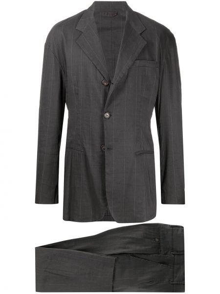 Прямой серый костюмный костюм на пуговицах Dolce & Gabbana Pre-owned