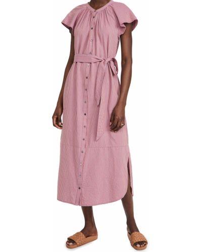 Хлопковое платье стрейч на кнопках Xírena