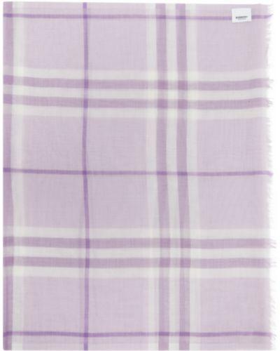 Шелковый фиолетовый шарф прямоугольный Burberry