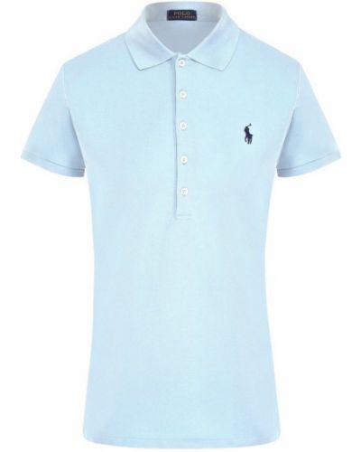 Голубое поло с логотипом Polo Ralph Lauren