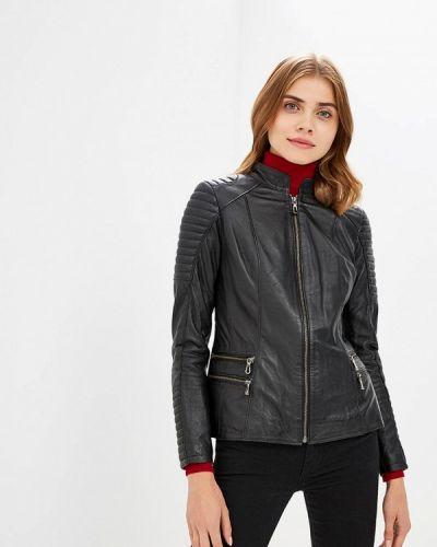 Кожаная куртка черная осенняя Jimmy Sanders