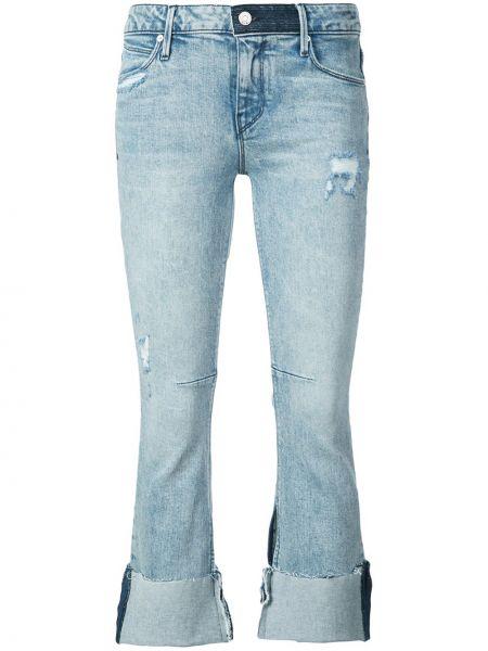 Укороченные джинсы с манжетами расклешенные Rta