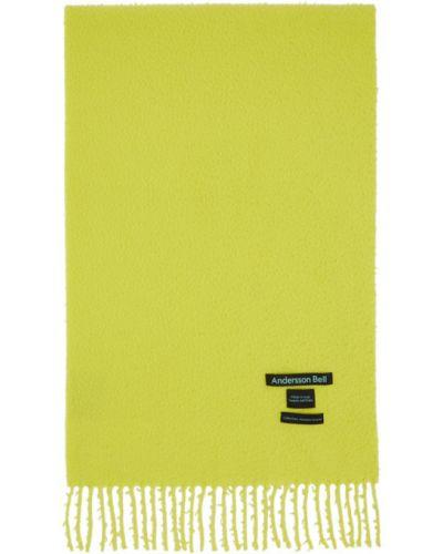 Зеленый шерстяной шарф прямоугольный Andersson Bell