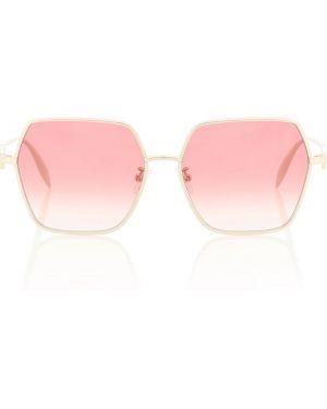Муслиновые прямые солнцезащитные очки квадратные Alexander Mcqueen