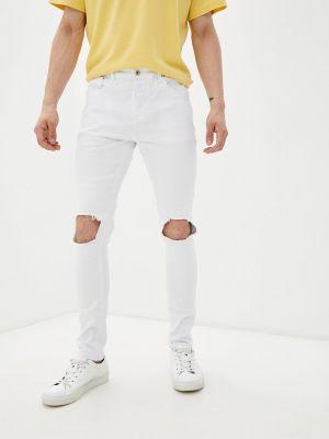 Белые зимние зауженные джинсы Terance Kole