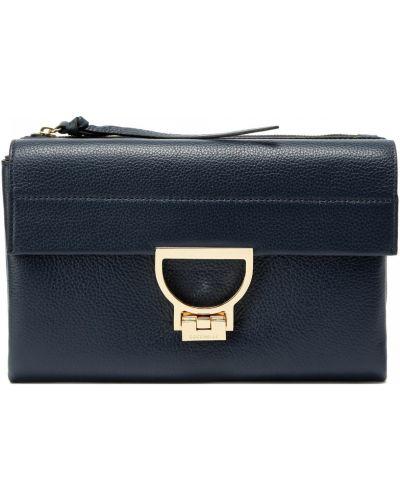 Синяя кожаная сумка Coccinelle