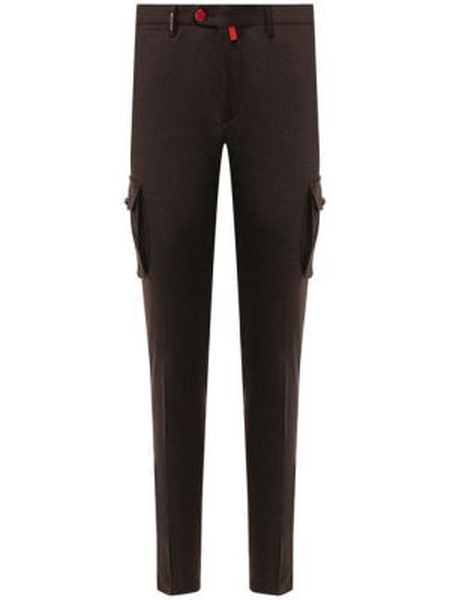 Прямые брюки с карманами на пуговицах новогодние для беременных Kiton