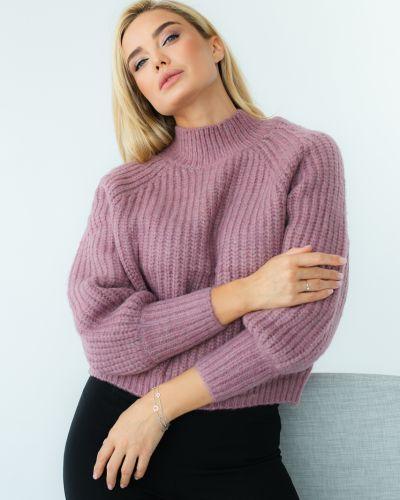 Вязаный свитер - фиолетовый Bluoltre