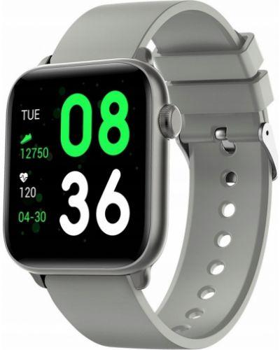 Czarny sport zegarek sportowy srebrny Rubicon