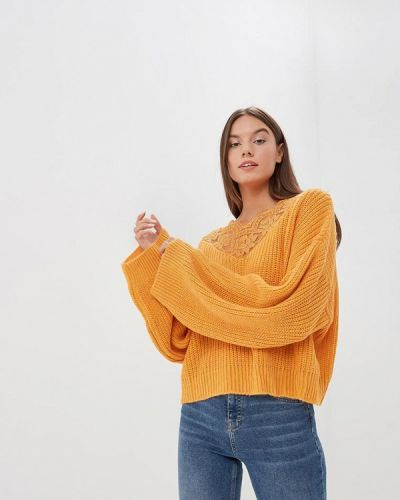 Пуловер итальянский желтый Miss Miss By Valentina