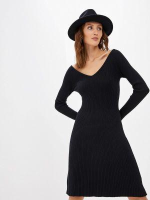 Черное вязаное платье Izabella