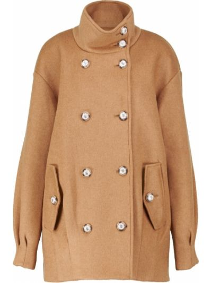 Коричневая шерстяная куртка Veronica Beard