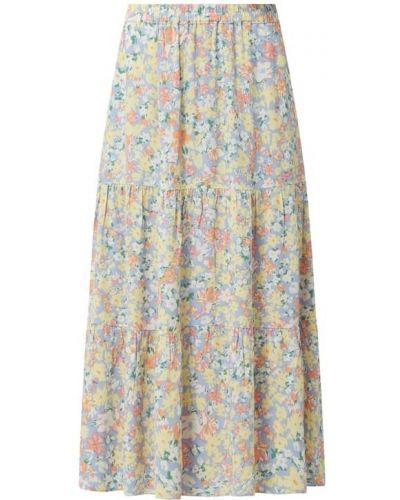 Fioletowa spódnica midi rozkloszowana z wiskozy Jake*s Casual