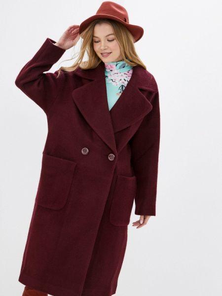 Пальто бордовый пальто Vamponi