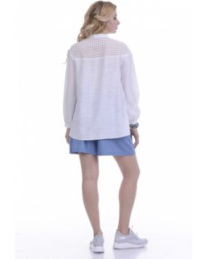 Блузка с вышивкой из вискозы Lautus