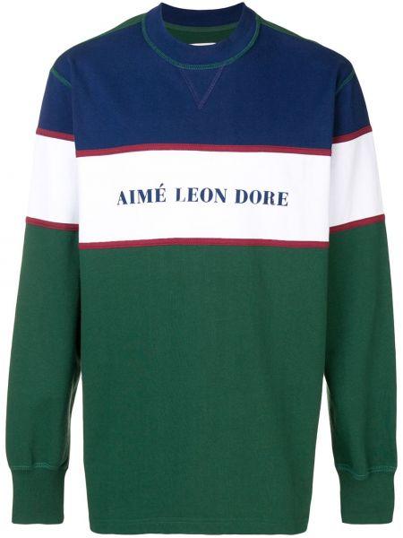 Zielona bluza z długimi rękawami bawełniana Aime Leon Dore