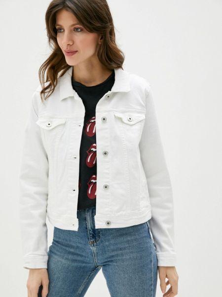 Джинсовая куртка весенняя белая Ichi