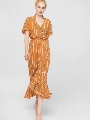 Оранжевое повседневное платье Lo