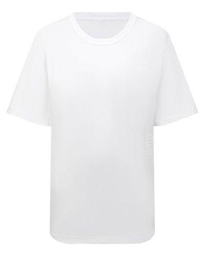 Белая хлопковая футболка Alexanderwang.t