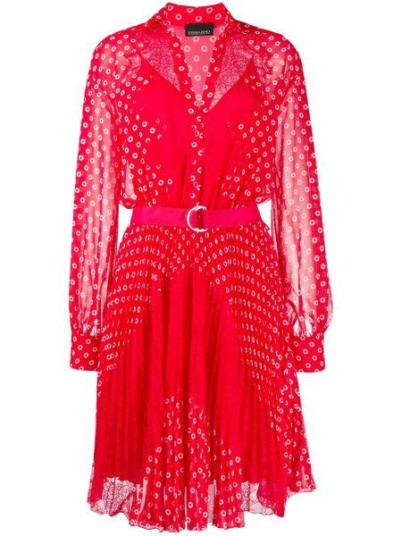 Платье макси в горошек на пуговицах Ermanno Ermanno