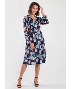 Платье с поясом с запахом с декольте Mariko