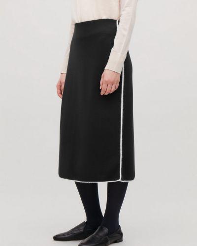 Облегающая шерстяная юбка карандаш на резинке Cos