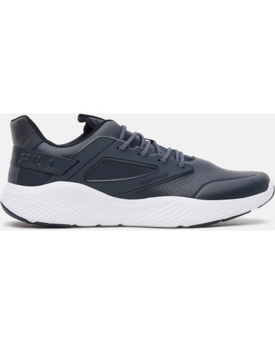 Кожаные кроссовки - синие Fila