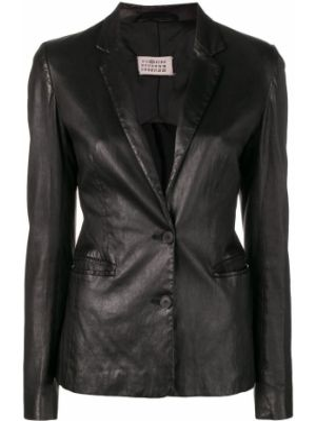 Черная куртка с манжетами на пуговицах с подкладкой Maison Martin Margiela Pre-owned