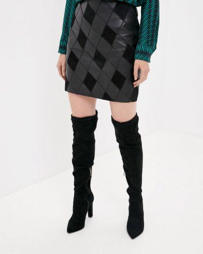 Кожаная черная юбка Y.a.s.