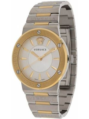 Золотистые часы золотые c сапфиром Versace
