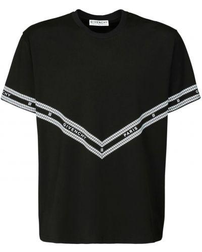 Czarny bawełna z rękawami bawełna koszula Givenchy