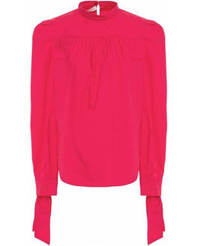 Хлопковая розовая блузка с манжетами Philosophy Di Lorenzo Serafini