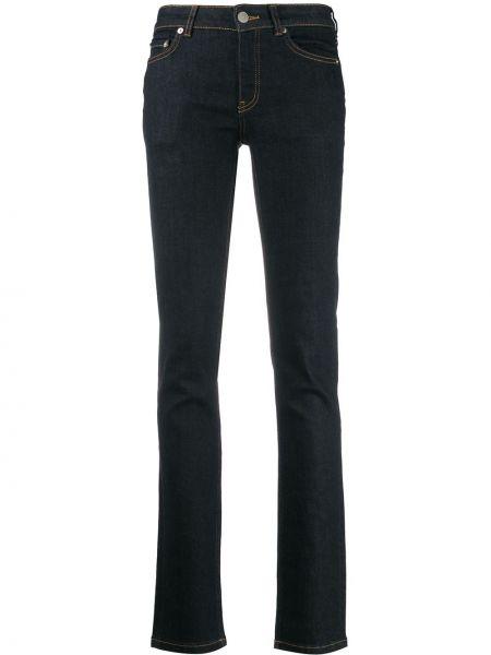 Прямые джинсы mom с накладными карманами Ganni