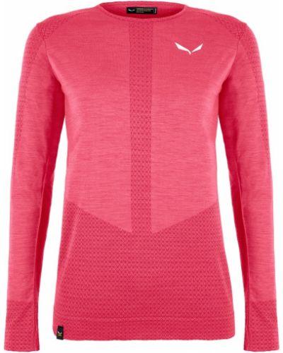 Розовая шерстяная футболка Salewa