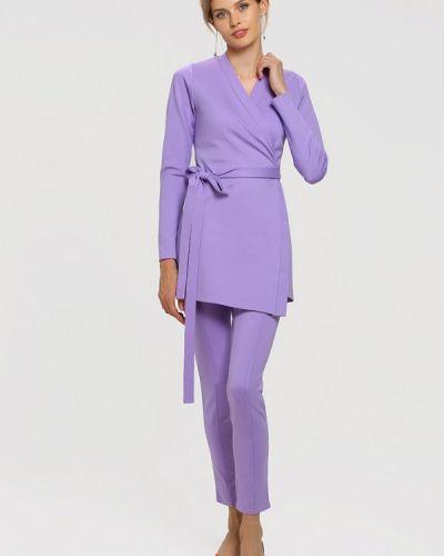 Фиолетовый брючный костюм Toryz
