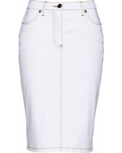 Юбка мини джинсовая на пуговицах Bonprix