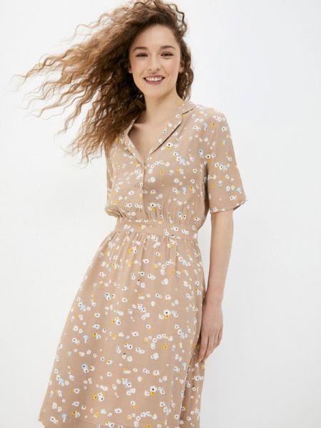Платье платье-рубашка бежевое Ichi